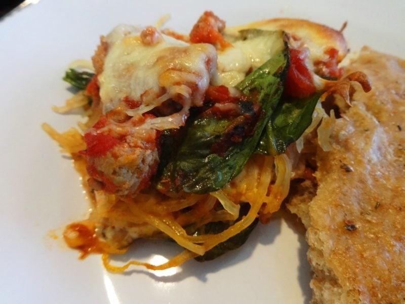 Spaghetti Squash Lasagna {Diabetic-Friendly, Gluten-Free, Vegetarian Potential}