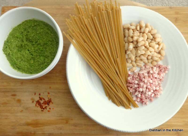 pesto-fettucini-ingredients