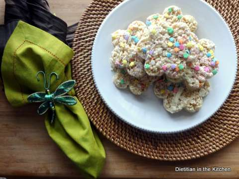 Springtime Krispie Treats {With Secret Ingredients!}