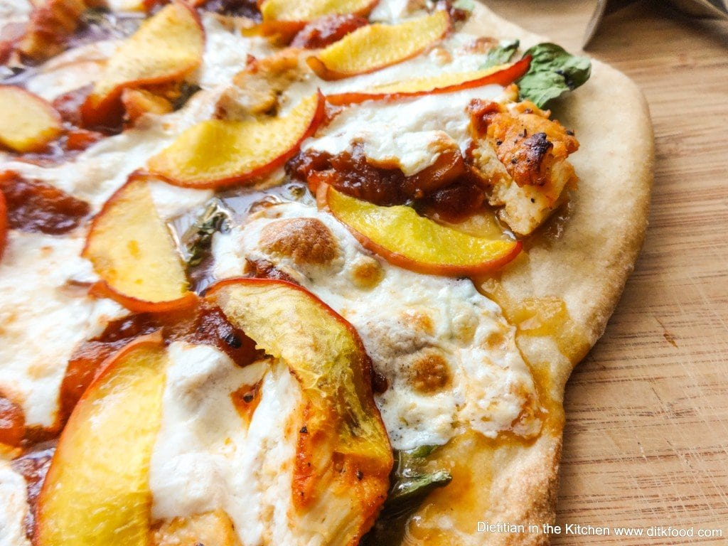 Peach BBQ Chicken Pizza