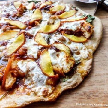 Peach BBQ Chicken Pizza