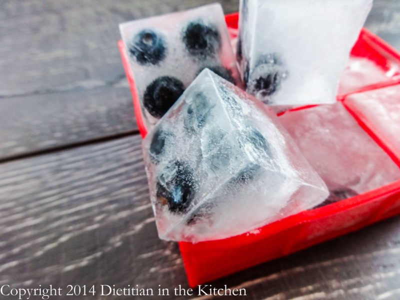 Blueberry Ice Cubes