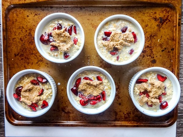 Baked Oatmeal ready for the oven