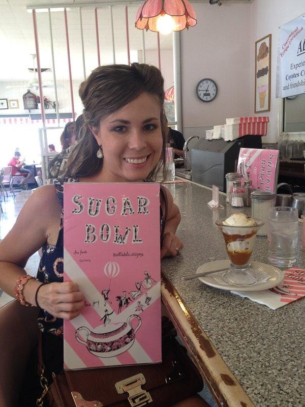 Caramel Sundae at the famous Sugar Bowl - an Old Town Scottsdale landmark!