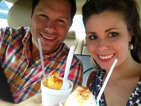 Snow cones from the best - SNO! Our fav flavor: Natural Mango & Coconut with Chile Powder