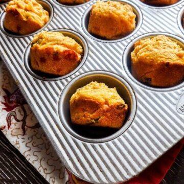 Hatch and White Cheddar Cornbread Muffins
