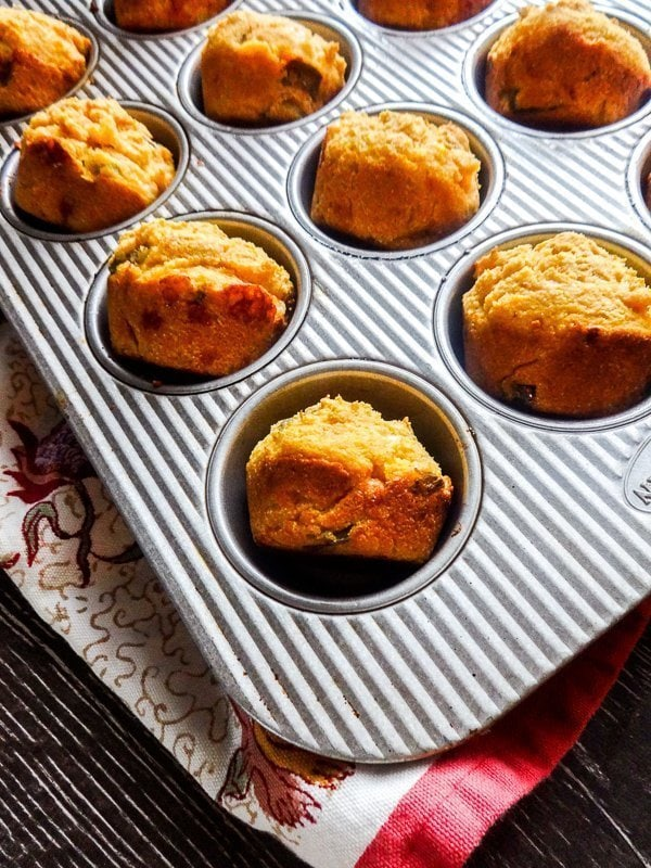 Hatch and White Cheddar Cornbread Muffins