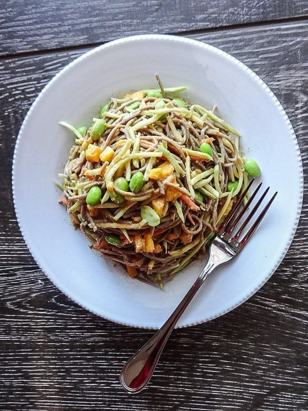Asian Soba Salad with Peanut Sauce