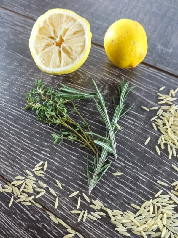 Lemon, Herbs, and Orzo for fresh clean flavors