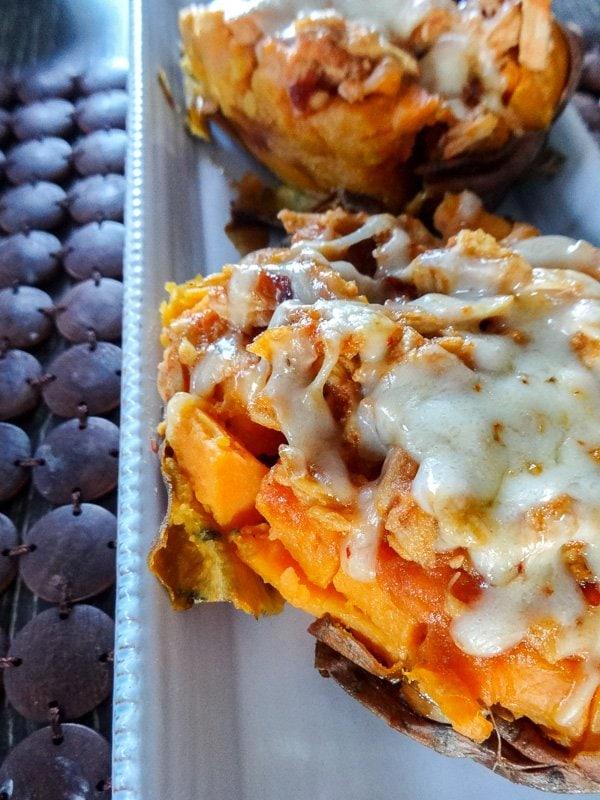 Chipotle Chicken Stuffed Sweet Potatoes