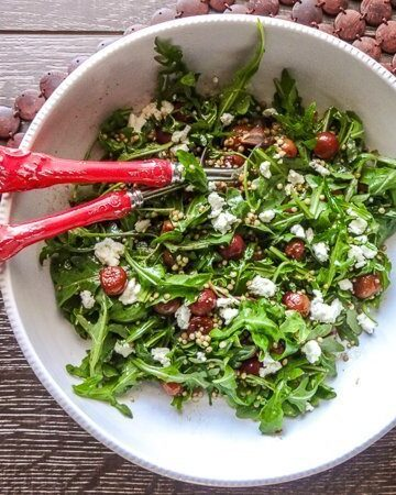 Roasted Grape and Sorghum Salad