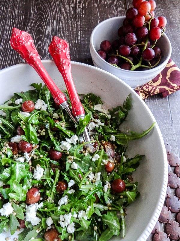 Roasted Grape and Sorghum Salad