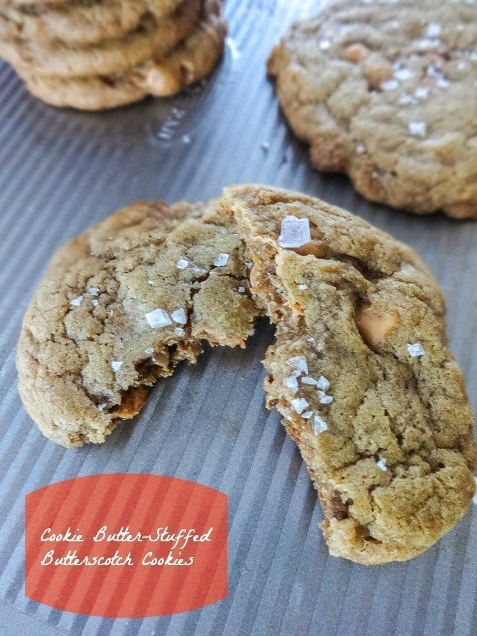 Cookie Butter Butterscotch Cookies - made with pumpkin, spices, and brown butter! www.sweetcayenne.com