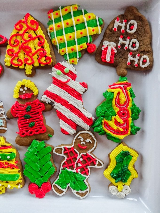 Gingerbread Cutouts from www.sweetcayenne.com are perfect for decorating with family and friends!