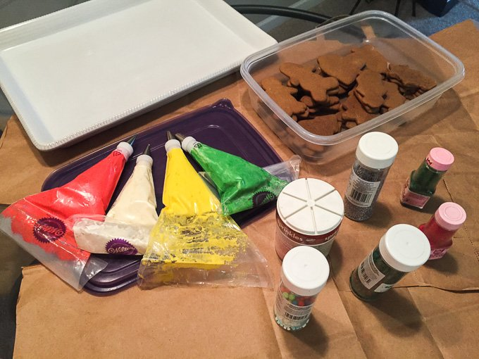 Set Up for Cookie Decorating