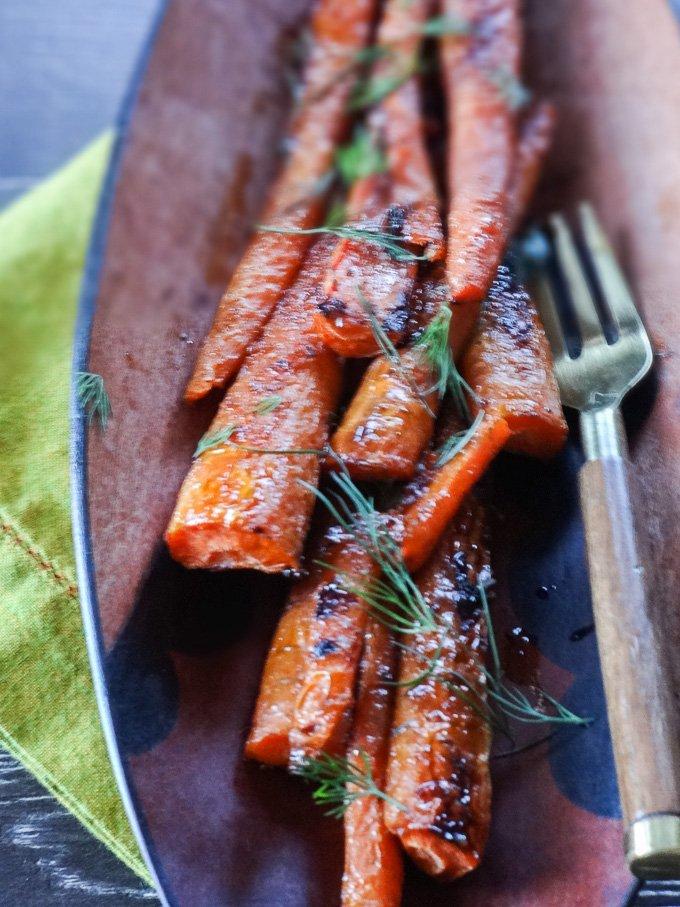 Harissa Roasted Carrots with Maple Glaze