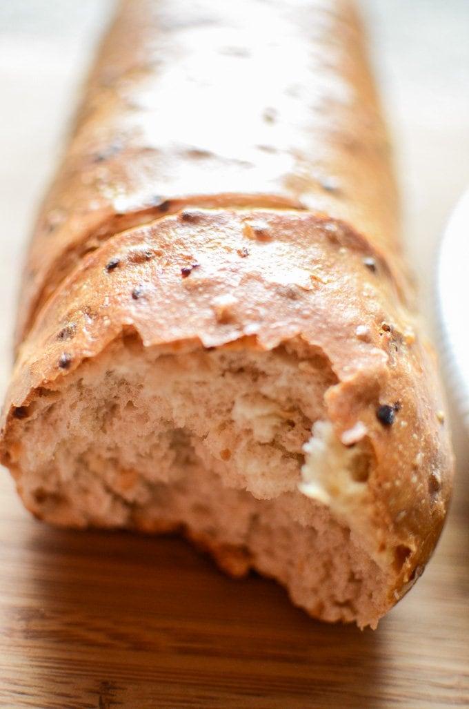 Roasted Garlic Baguette www.sweetcayenne.com