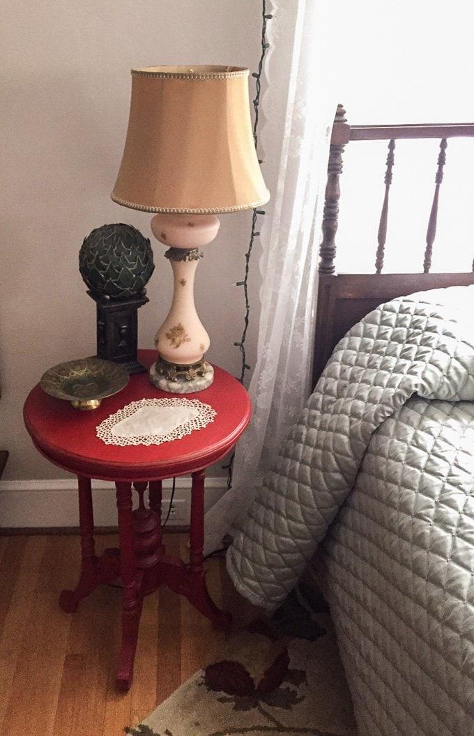 Red nightstand www.sweetcayenne.com