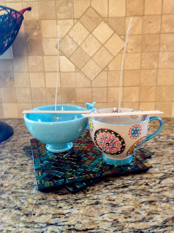 DIY Coffee Cup Candle