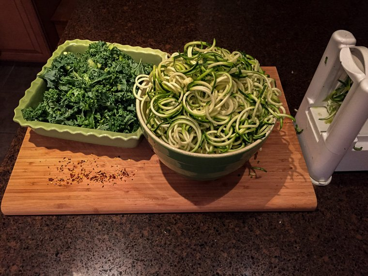 Kale and Zucchini Noodles