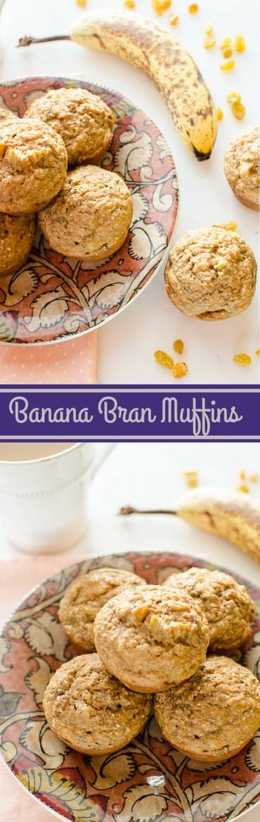 Banana Bran Muffins have the flavor of bananas foster and are so good you'll want to be sure and make a double batch! www.sweetcayenne.com