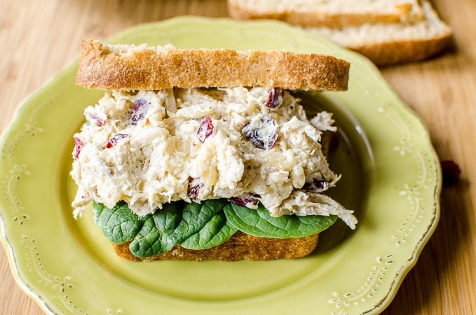 A Curried Chicken Salad Sandwich.