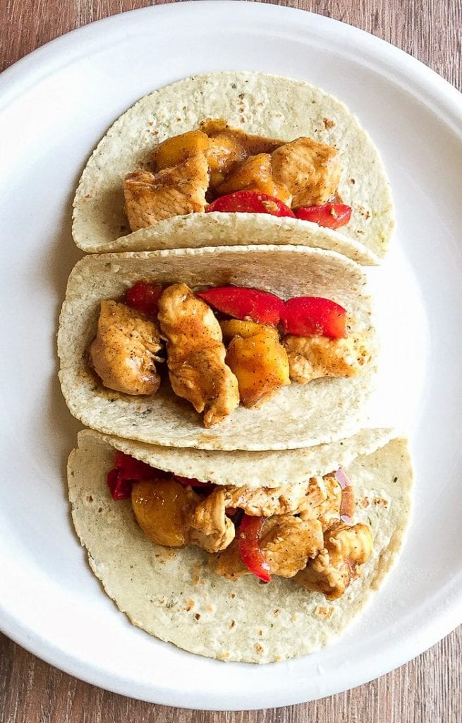 5 Ingredient Mango Chicken Tacos