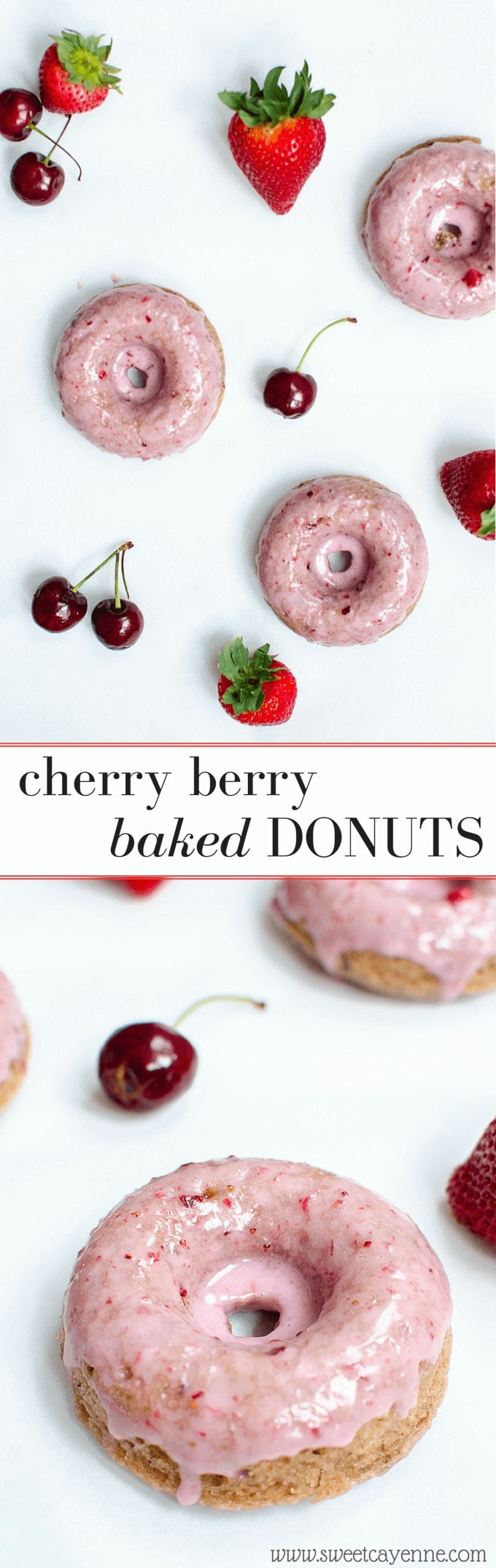 These easy baked donuts can be ready and on your table in less than an hour - perfect way to showcase summer fruit!