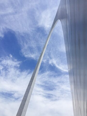Fun shot of the St. Louis Arch