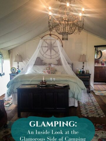 "Get an inside look at what it's like to spend a weekend ""glamping."" Basically, this is the glamorous way to go camping! From sweetcayenne.com"