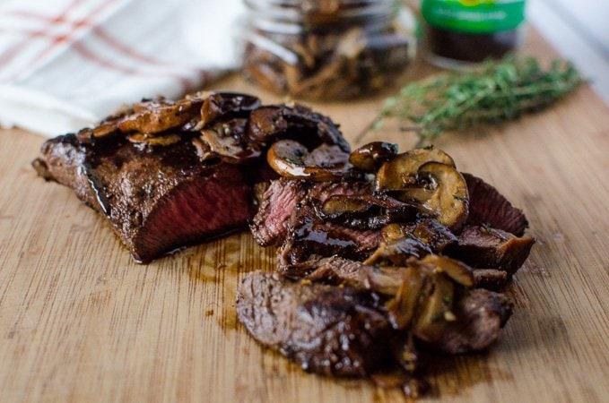 Flat Iron Steak with Maple Bourbon Espresso Sauce + Pasture to Plate Tour
