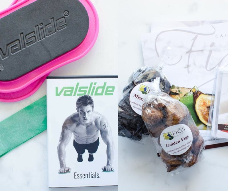Prizes from the California Fig and Fitness Package