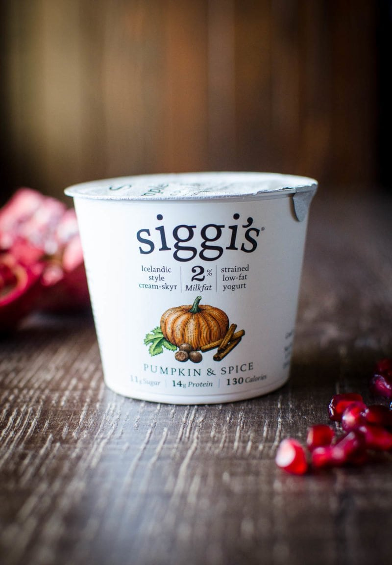 Gingerbread Energy Bites are made with Siggi's yogurt, naturally sweetened, and full of fiber and protein to keep you going during the busy holidays!