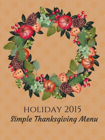 If you are a beginner cook and it's your first time to make Thanksgiving dinner, this menu is for you! Great for limited kitchen space too!