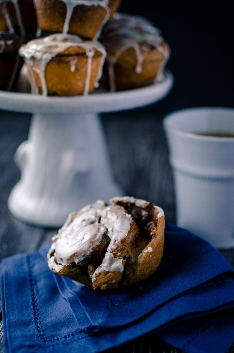 Cinnamon rolls are made extra special for the holidays with warming chai spices and a festive eggnog glaze. These are simple cinnamon rolls for the BEGINNER - only one rise! Great for Christmas morning breakfast.