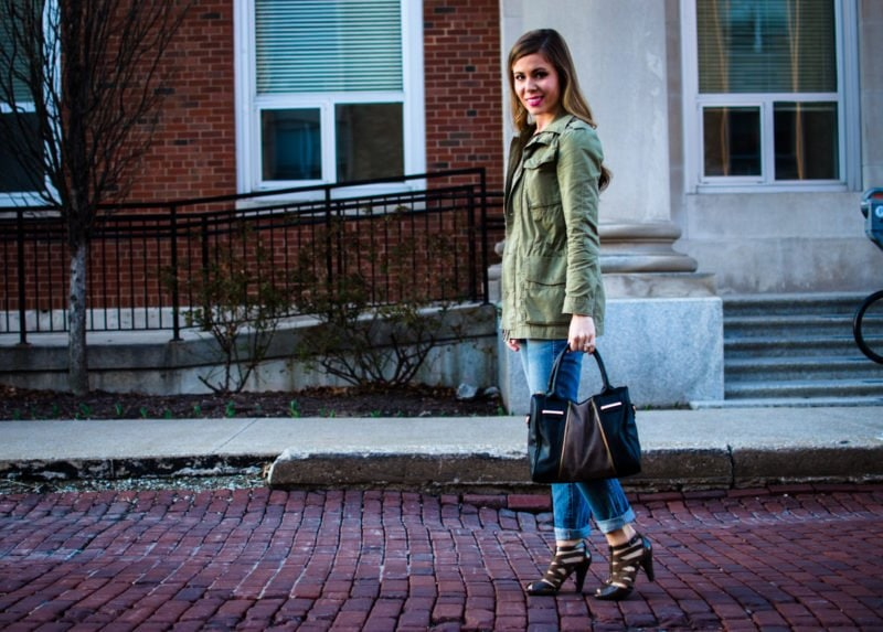 My green anorak jacket is one of my favorite spring closet staples. It goes with so much and can easily be dressed up or down.