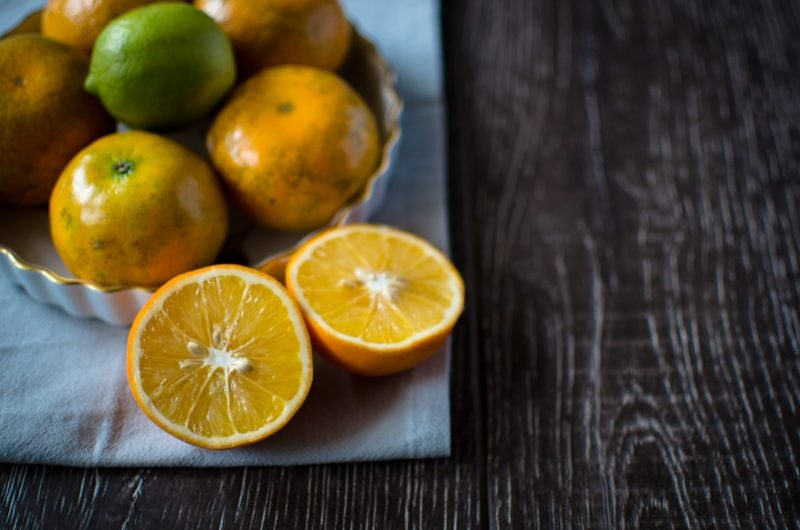 Adding a spritz of citrus to a finished dish can trick your tastebuds into thinking the food tastes saltier. Try it!