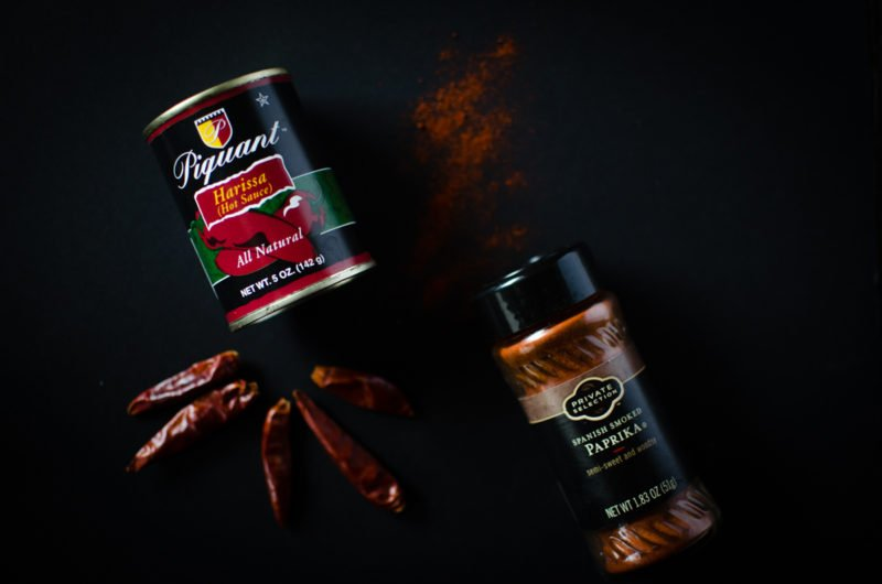 Dried and ground chilis add an explosion of flavor to dishes - also try chili pastes like harissa!