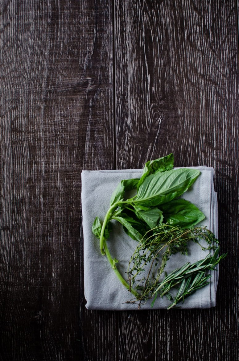 Fresh herbs really brighten the flavor of a dish and can provide a great pop of color.