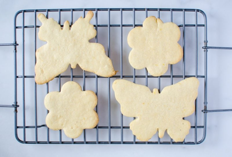 Soft and buttery sugar cutout cookies are laced with lemon zest to give the dough a fresh spring flavor!