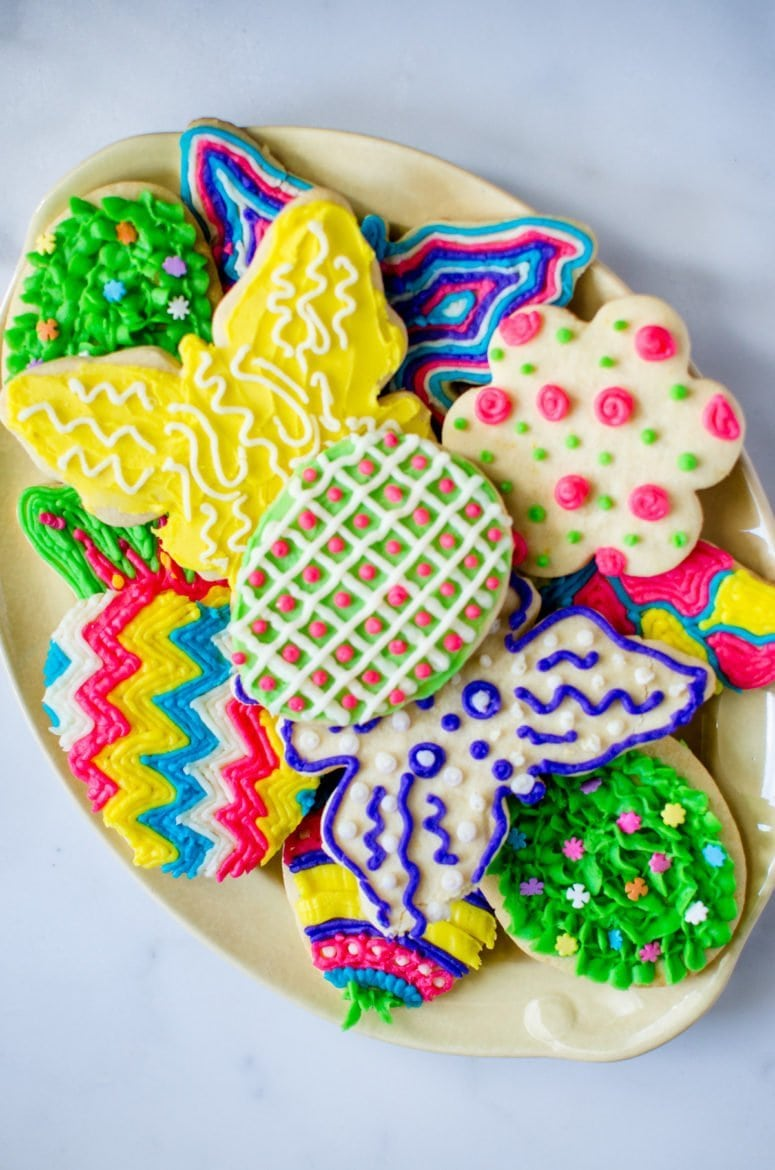 Spring Cutout Cookies with Buttercream Frosting
