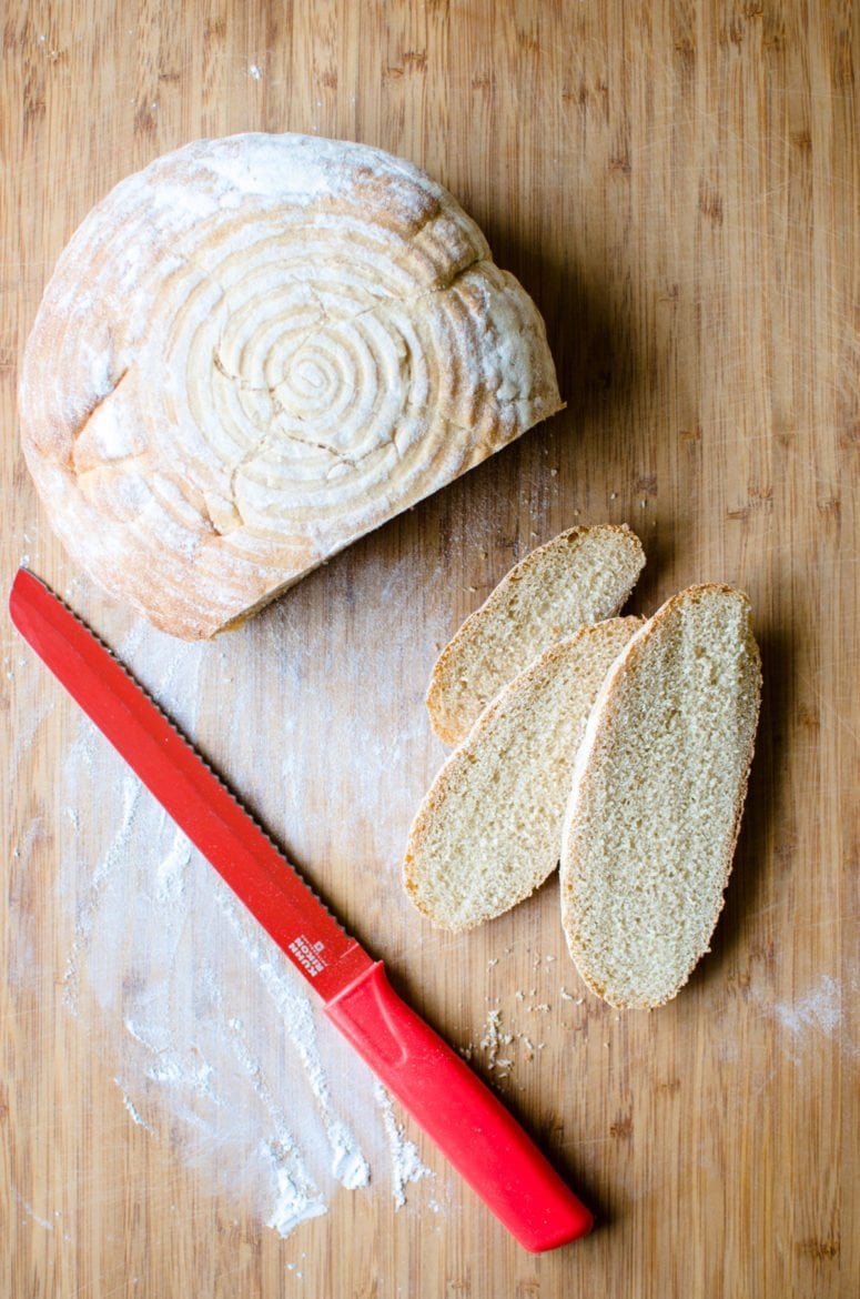 Homemade Sourdough Bread is a recipe anyone can learn to make in their own kitchen by following this simple and fun tutorial. EASY, fresh, bakery-style bread!