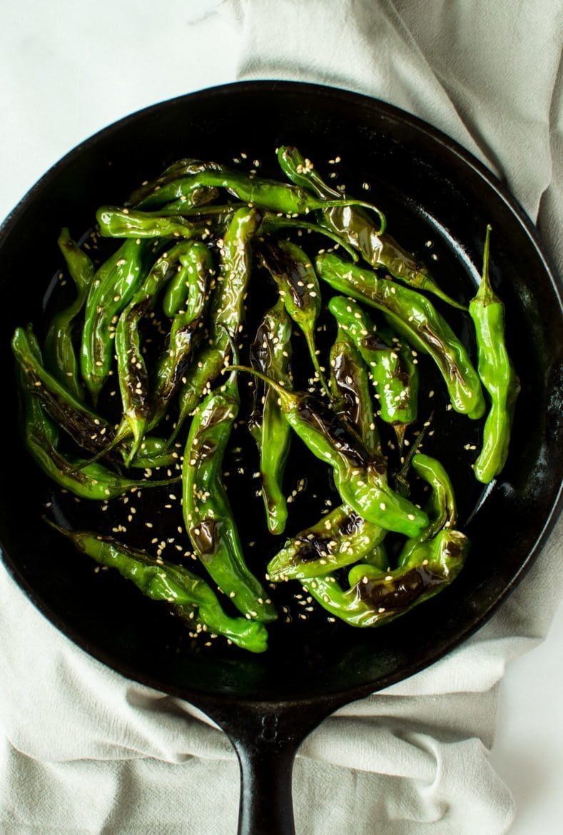 Blistered Sesame Shishito Peppers – A 5 Ingredient Recipe!