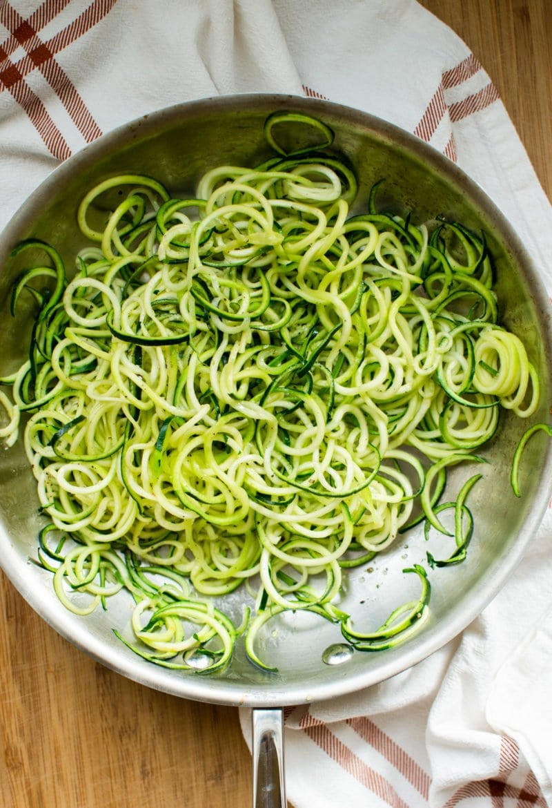 Spiralized Zucchini Noodles make for a healthier, calorie-conscious, gluten-free pasta substitute!