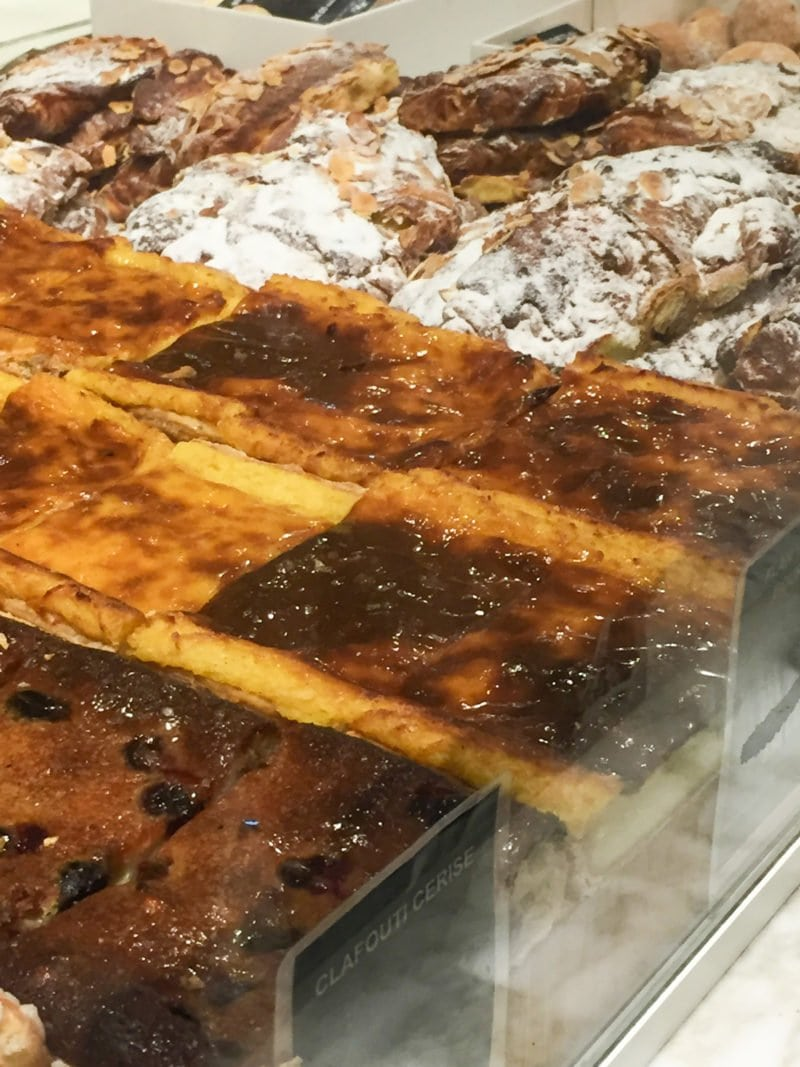 Delicious bruleed custard bars at Le Grand Epicerie in Bon Marche