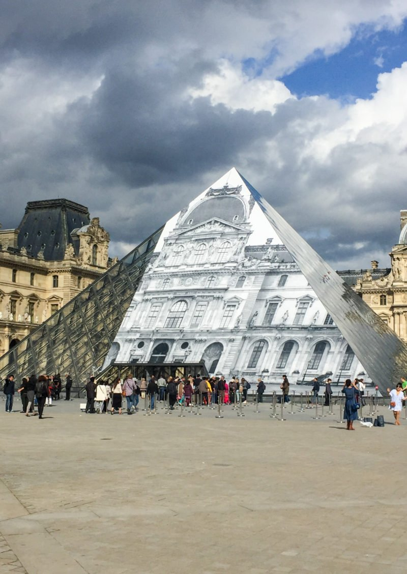 Pyramids at the Lourve museum in Paris, France