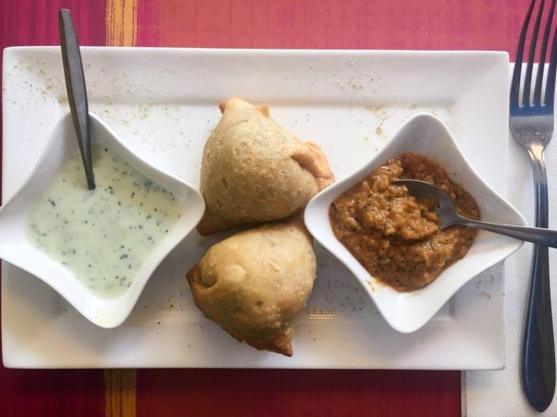 Samosas at Indian Sky restaurant in Amsterdam - Jordaan neighborhood