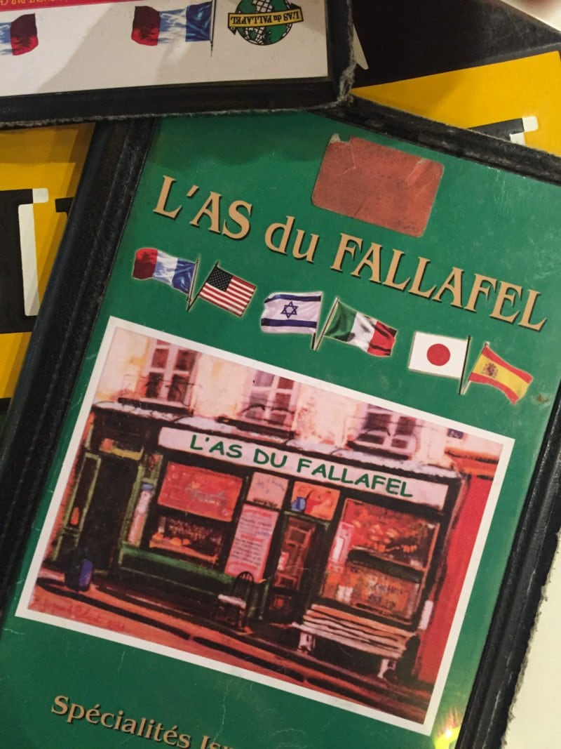 La Du Fallafel in the Marais neighborhood of Paris, France