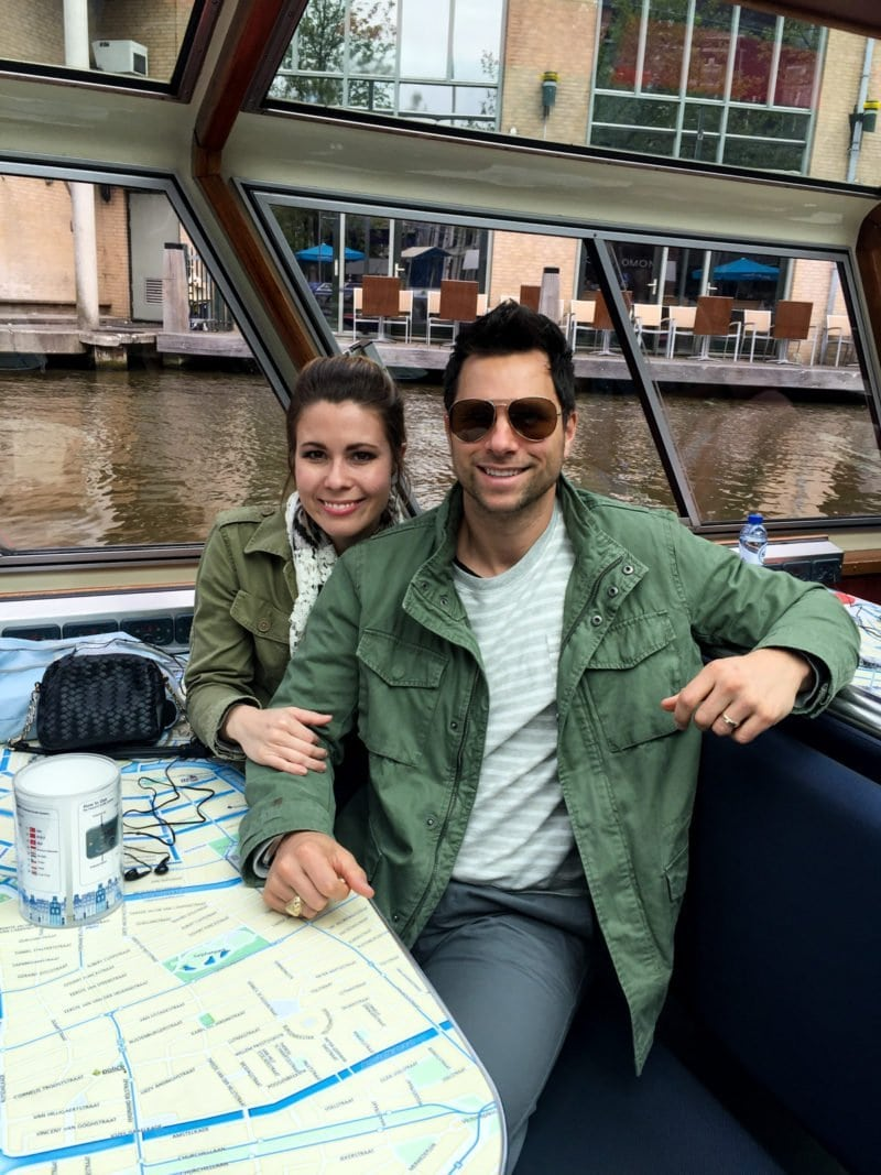 Getting ready for a cruise through the canals of Amsterdam