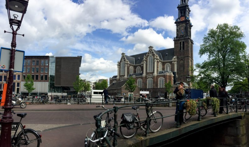 Panoramic shot of the Anne Frank House in Amsterdam